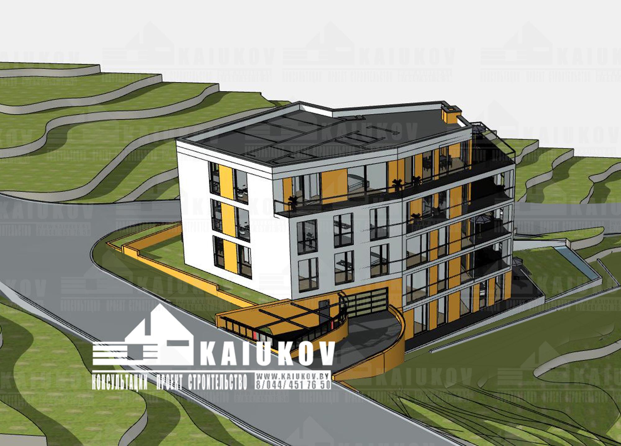 Проект многоэтажного дома , минимализм BB19