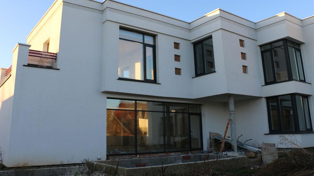 Проект дома с плоской кровлей и террасой DI-22