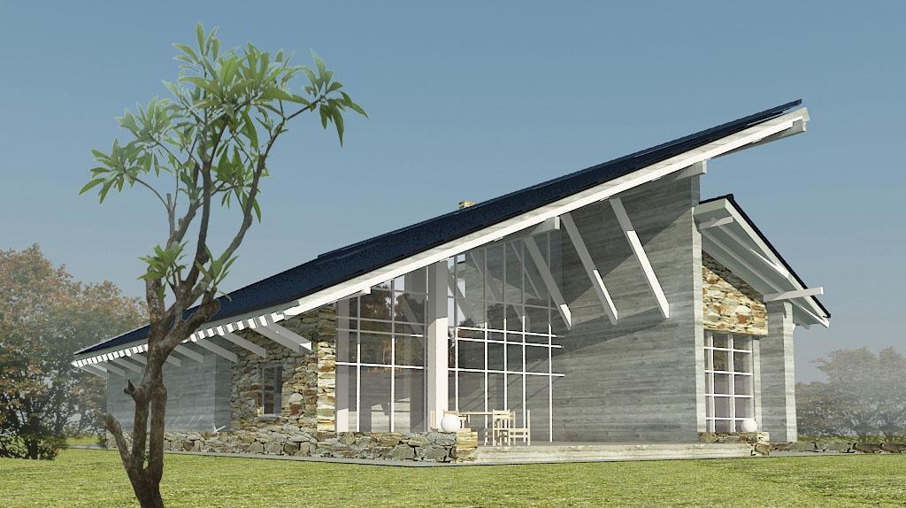 Проект мансардного дома МB2