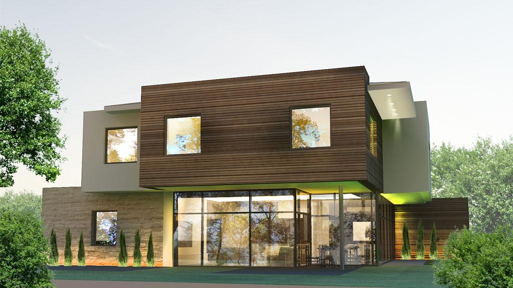 Проект дома с плоской кровлей, модерн ММ2
