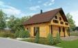 Проект деревянного мансардного дома из 2каркаса DD-17CW