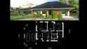 Проект 1 этажного дома с террасой и гаражем 41А