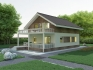 Проект мансардный деревянный дом с террасой ND7