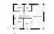 Проект мансардного блочного дома PP-77