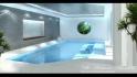 Интерьер сауны, бассейна частного дома IK