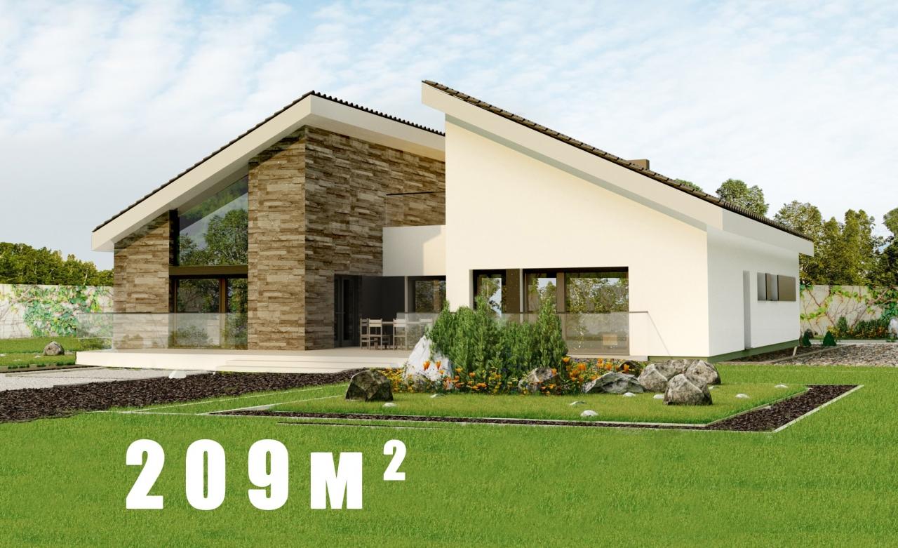 Проект 1этажного дома с террасой,подвалом ОМ
